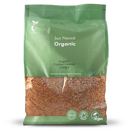 Just Natural Organic Golden Linseed 1kg