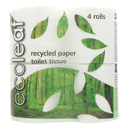 Ecoleaf Recycled Paper Toilet Tissue 4 Rolls