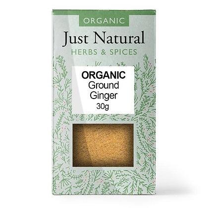 Just Natural Organic Ground Ginger 30g