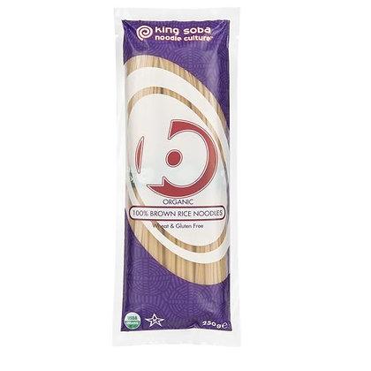 King Soba Organic 100% Brown Rice Noodles 250g