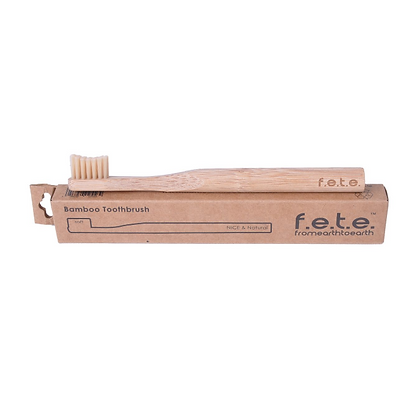 f.e.t.e. Bamboo Toothbrush Bright Blue Medium Bristle