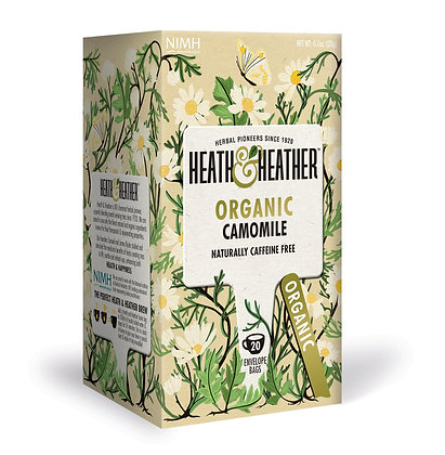 Heath & Heather Organic Camomile 20 Bags