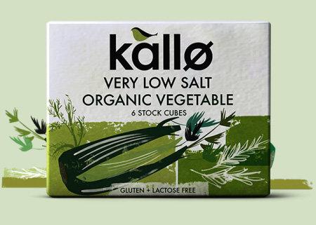 Kallo Very Low Salt Organic Vegetable 6 Stock Cubes