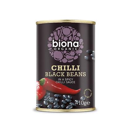 Biona Chilli Black Beans 410g
