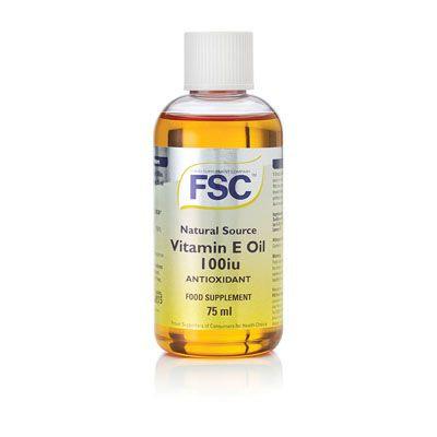 FSC Vitamin E Oil  100iu 75ml