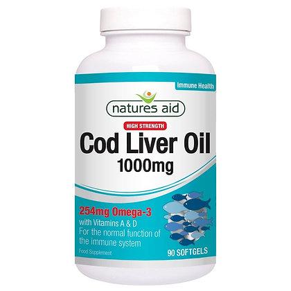 Natures Aid Cod Liver Oil 1000mg 180 Softgels