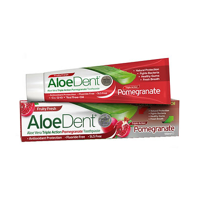 Aloe Dent Aloe Vera Triple Action Pomegranate Toothpaste 100ml