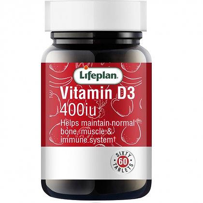 Lifeplan Vitamin D3 400IU 60 Tablets