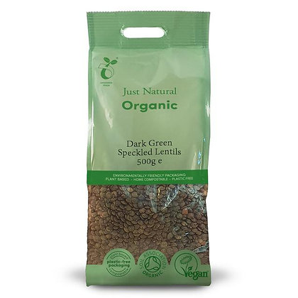 Just Natural Organic Dark Green Speckled Lentils 500g