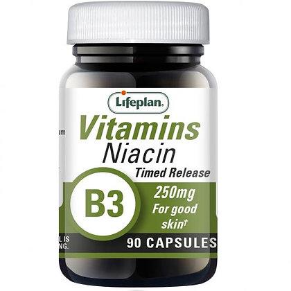 Lifeplan Vitamin B3 Niacin 250mg Timed Release