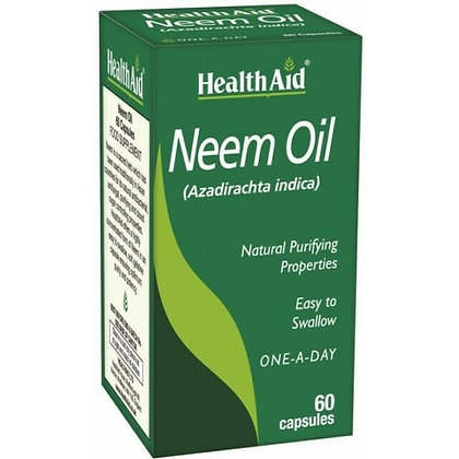 HealthAid Neem Oil 60 Capsules