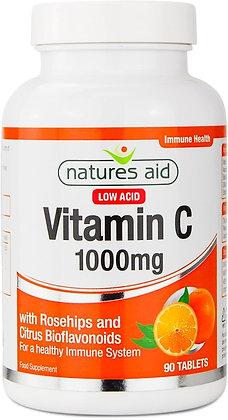 Natures Aid Vitamin C Low Acid 1000mg 90 Tablets