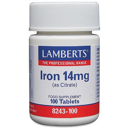Lamberts Iron 14mg 100 Tablets