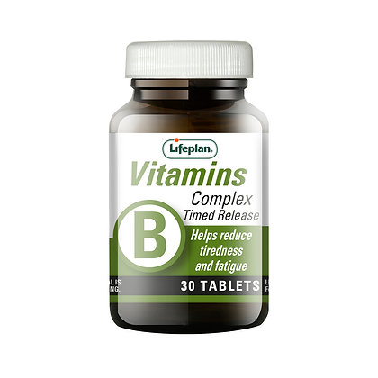 Lifeplan Vitamin B Complex Time Release 380mg 30 tablets