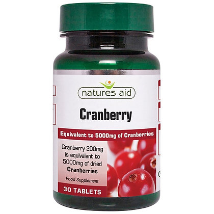 Natures Aid Cranberry 200mg 90 Tablets