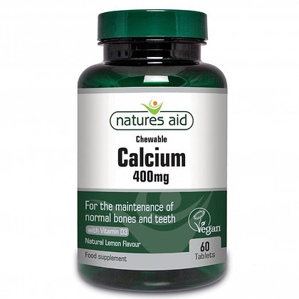 Natures Aid Chewable Calcium 400mg 60 Tablets