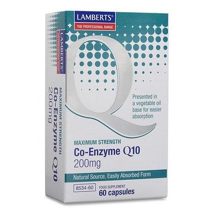Lamberts Co-Enzyme Q10 200mg 60 Capsules
