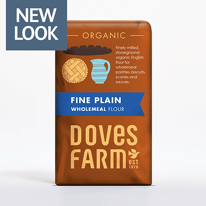 Doves Farm Organic Stoneground Fine Plain English Wholemeal Flour 1kg
