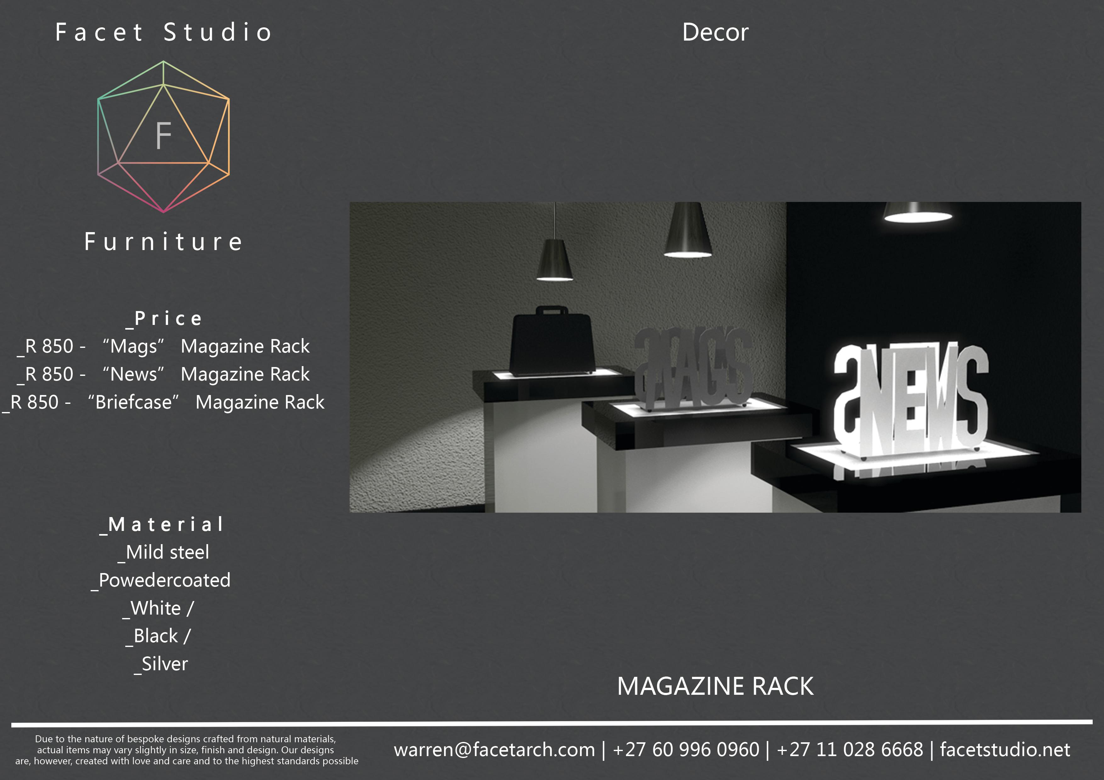 2.2 Magazine Racks