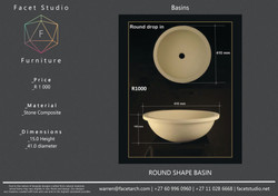 6.5 Round (Drop-in) Shape Basin