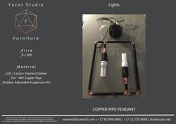 Copper Pipe Pendant