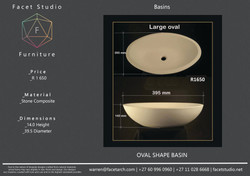 6.3 Oval (Large) Shape Basin