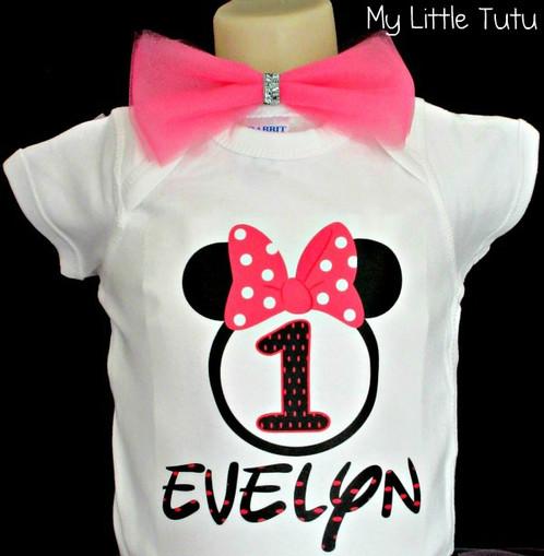 Minnie Mouse T Shirt Design   Custom Minnie Mouse T Shirt