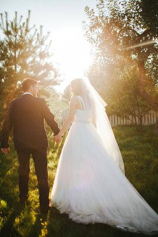 Hochzeit Spaziergang am  Nachmittag