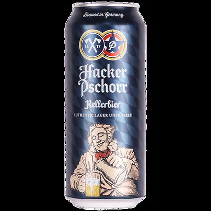 Hacker Pschorr Kellerbier 50cl can 5.5%