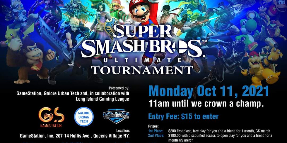 Super Smash Bros Ultimate Tournament (BYOS- Bring Your Own Switch)