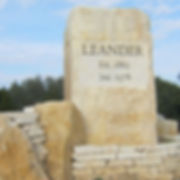 Leander Town Establishment Stone