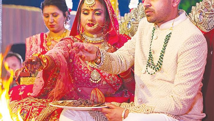 Wedding Celebrated Under The Stars