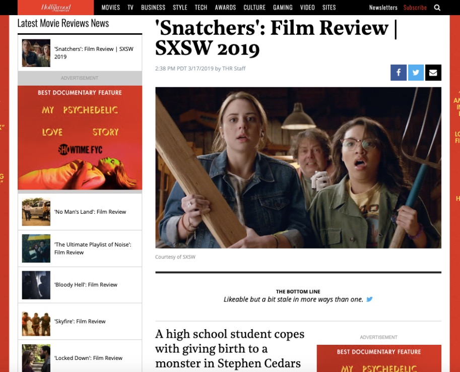 JJ Nolan Snatchers SXSW Film Review The