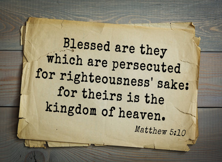 Righteousness Blessed