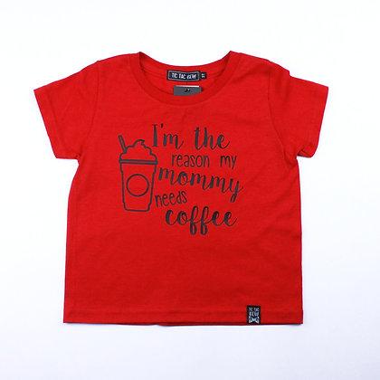 T-Shirt Rouge Café Sucré