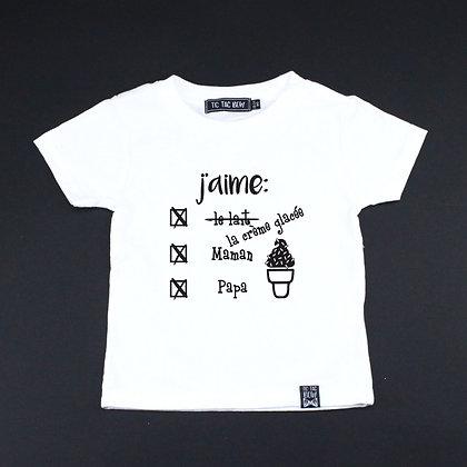 T-Shirt J'Aime La Crème Glacée