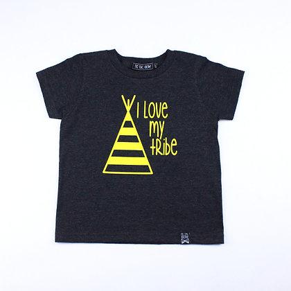 T-Shirt Charbon Et Jaune Tribu