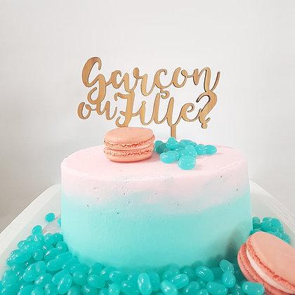 Cake Topper ''Garçon ou Fille''