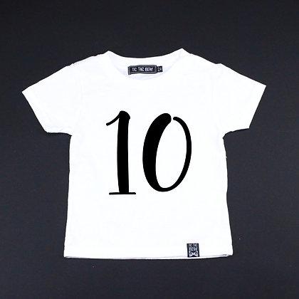 T-Shirt Bébé Anniversaire/Plume