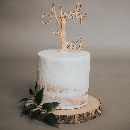 Cake Topper Personnalisé ''Nom + Âge''