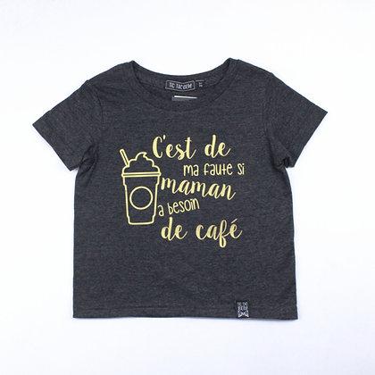 T-Shirt Charbon Et Or Café Sucré