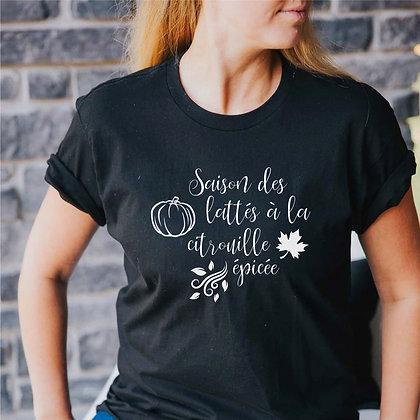 T-Shirt Adulte ''Latté à la citrouille épicée''