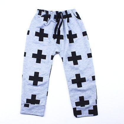 Pantalon Gris Et Noir +