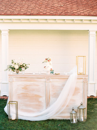 White Sheer Draping