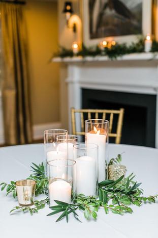 Glass Pillar Candles- Md & Lrg
