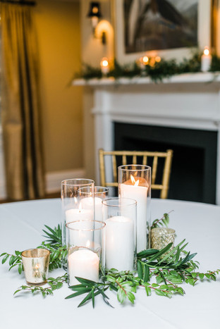 Glass Pillar Candles- Md & Lrg