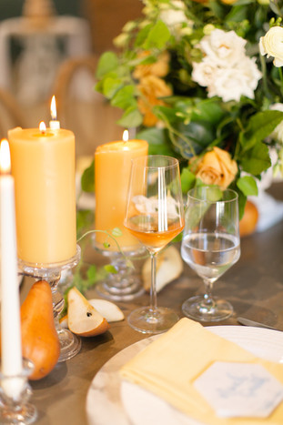 Yellow Pillar Candles