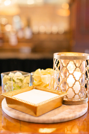 Gold Patterned Pillar Candle Holders