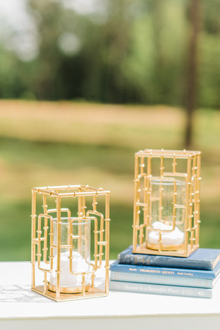 Gold Geometric Pillar Candle Holder