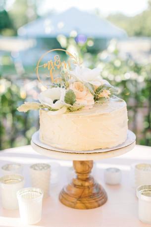 Wood & Glass Cake Stand Close-Up